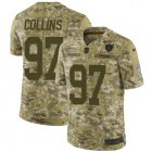 Cheap Nike Raiders #97 Maliek Collins Camo Youth Stitched NFL Limited 2018 Salute To Service Jersey
