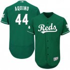Cheap Cincinnati Reds #44 Aristides Aquino Majestic St. Patrick's Day Flex Base Authentic Collection Celtic Player Jersey Green