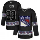 Cheap Adidas Rangers #23 Adam Foxs Black Authentic Team Logo Fashion Stitched NHL Jersey