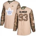 Cheap Adidas Maple Leafs #93 Doug Gilmour Camo Authentic 2017 Veterans Day Stitched NHL Jersey