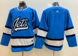 Cheap Adidas Jets Blank Blue Alternate Authentic Stitched NHL Jersey
