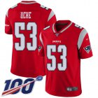 Cheap Nike Patriots #53 Josh Uche Red Youth Stitched NFL Limited Inverted Legend 100th Season Jersey
