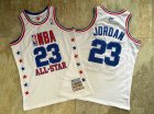 Cheap NBA 2003 All-Star #23 Michael Jordan White Swingman Throwback Jersey