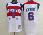 Cheap NBA 1980 All-Star Men's #6 Julius Erving White Hardwood Classics Soul Swingman Throwback Jersey