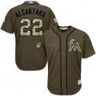 Cheap marlins #22 Sandy Alcantara Green Salute to Service Stitched MLB Jersey