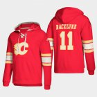 Cheap Calgary Flames #11 Mikael Backlund Red adidas Lace-Up Pullover Hoodie