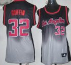 Cheap Los Angeles Clippers #32 Blake Griffin Black/Gray Fadeaway Fashion Womens Jersey