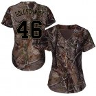 Cheap Cardinals #46 Paul Goldschmidt Camo Realtree Collection Cool Base Women's Stitched MLB Jersey