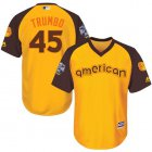 Cheap Orioles #45 Mark Trumbo Gold 2016 All-Star American League Stitched Youth MLB Jersey