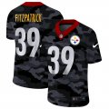 Cheap Pittsburgh Steelers #39 Minkah Fitzpatrick Men's Nike 2020 Black CAMO Vapor Untouchable Limited Stitched NFL Jersey