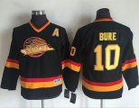 Cheap Canucks #10 Pavel Bure Black CCM Throwback Youth Stitched NHL Jersey