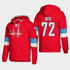 Cheap Washington Capitals #72 Travis Boyd Red adidas Lace-Up Pullover Hoodie