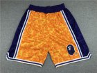 Cheap Men's Los Angeles Lakers Mitchell & Ness x BAPE Yellow 1996-97 Hardwood Classics Shorts