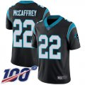 Cheap Nike Panthers #22 Christian McCaffrey Black Team Color Men's Stitched NFL 100th Season Vapor Limited Jersey