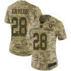 Cheap Nike Colts #28 Jonathan Taylor Camo Women's Stitched NFL Limited 2018 Salute To Service Jersey