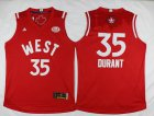 Cheap 2015-16 NBA Western All-Stars Men's #35 Kevin Durant Revolution 30 Swingman Red Jersey