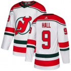 Cheap Adidas Devils #9 Taylor Hall White Alternate Authentic Stitched Youth NHL Jersey