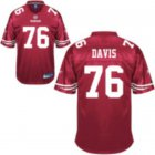 Cheap 49ers #76 Anthony Davis Red Stitched NFL Jersey