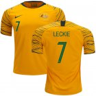 Cheap Australia #7 Leckie Home Soccer Country Jersey
