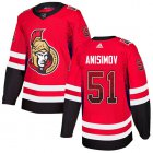Cheap Adidas Senators #51 Artem Anisimov Red Home Authentic Drift Fashion Stitched NHL Jersey