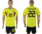 Cheap Colombia #22 Castellanos Home Soccer Country Jersey
