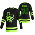 Cheap Dallas Stars #30 Ben Bishop Black Men's Adidas 2020-21 Reverse Retro Alternate NHL Jersey