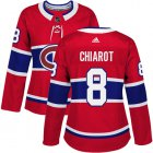 Cheap Adidas Canadiens #8 Ben Chiarot Red Home Authentic Women's Stitched NHL Jersey