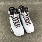 Cheap Womens Air Jordan 6 Rings Shoes White/black-red