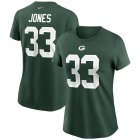 Cheap Green Bay Packers #33 Aaron Jones Nike Women's Team Player Name & Number T-Shirt Green