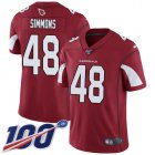 Cheap Nike Cardinals #48 Isaiah Simmons Red Team Color Youth Stitched NFL 100th Season Vapor Untouchable Limited Jersey