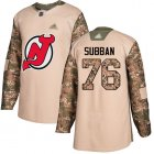 Cheap Adidas Devils #76 P.K. Subban Camo Authentic 2017 Veterans Day Stitched NHL Jersey