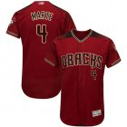 Cheap Diamondbacks #4 Ketel Marte Sedona Red Flexbase Authentic Collection Stitched MLB Jersey