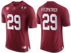 Cheap Men's Alabama Crimson Tide #29 Minkah Fitzpatrick Red 2017 Championship Game Patch Stitched CFP Nike Limited Jersey