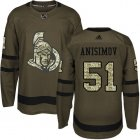 Cheap Adidas Senators #51 Artem Anisimov Green Salute to Service Stitched NHL Jersey