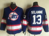 Cheap Jets #13 Teemu Selanne Light Blue CCM Throwback Stitched Youth NHL Jersey