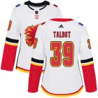Cheap Adidas Flames #39 Cam Talbot White Road Authentic Women's Stitched NHL Jersey