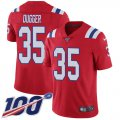 Cheap Nike Patriots #35 Kyle Dugger Red Alternate Youth Stitched NFL 100th Season Vapor Untouchable Limited Jersey