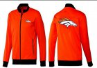 Cheap NFL Denver Broncos Team Logo Jacket Orange
