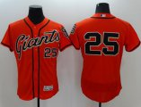 Cheap Giants #25 Barry Bonds Orange Flexbase Authentic Collection Stitched MLB Jersey