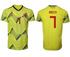 Cheap Colombia #7 Bacca Home Soccer Country Jersey