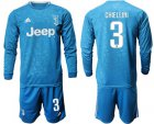 Cheap Juventus #3 Chiellini Third Long Sleeves Soccer Club Jersey