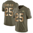 Cheap Nike Chiefs #25 Clyde Edwards-Helaire Olive/Gold Youth Stitched NFL Limited 2017 Salute To Service Jersey