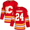 Cheap Adidas Flames #24 Travis Hamonic Red Alternate Authentic Stitched NHL Jersey