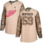 Cheap Adidas Red Wings #59 Tyler Bertuzzi Camo Authentic 2017 Veterans Day Stitched Youth NHL Jersey