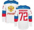 Cheap Team Russia #72 Sergei Bobrovsky White 2016 World Cup Stitched NHL Jersey