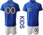 Cheap France Personalized 100th Anniversary Edition Kid Soccer Country Jersey