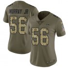 Cheap Nike Chargers #56 Kenneth Murray Jr Olive/Camo Women's Stitched NFL Limited 2017 Salute To Service Jersey
