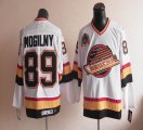 Cheap Canucks #89 Alexander Mogilny Stitched White CCM Throwback NHL Jersey