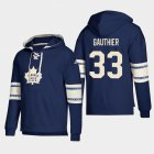 Cheap Toronto Maple Leafs #33 Frederik Gauthier Blue adidas Lace-Up Pullover Hoodie