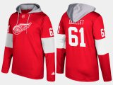 Cheap Red Wings #61 Xavier Ouellet Red Name And Number Hoodie